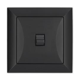 Μεσαίος Αλε Ρετουρ 10A Με Λυχνία Μαύρος Opal Us Timex