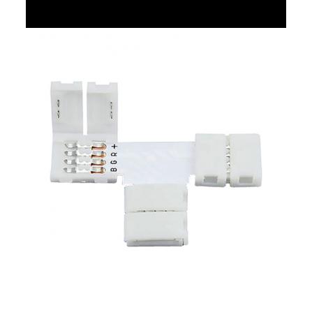 Σύνδεσμος  Τ για ταινία LED μονόχρωμη 12V, chip 5050-10mm