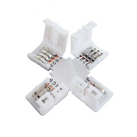 Σύνδεσμος σταυρός για ταινία LED μονόχρωμη 12V, chip 3528-8mm
