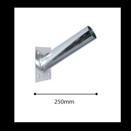 Μεταλλικός βραχίονας Φ60 γαλβανισμένος για τοποθέτηση σε τοίχο