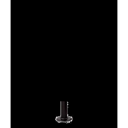 Μεταλλικός Ιστός σε μαύρο χρώμα 10εκ Φ60