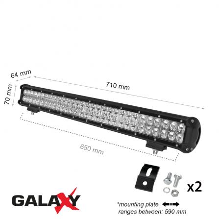 Προβολέας μπάρα LED Στεγανός 180W 6000K (ΨΥΧΡΟ) 13500Lm IP67 12V/24V για αυτοκίνητα, βάρκες, αγροτικά μηχανήματα