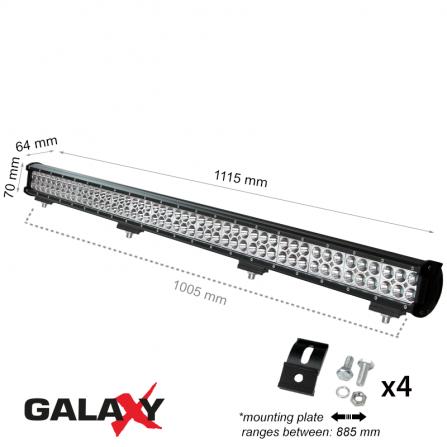 Προβολέας μπάρα LED Στεγανός 288W 6000K (ΨΥΧΡΟ) 21600Lm IP67 12V/24V για αυτοκίνητα, βάρκες, αγροτικά μηχανήματα