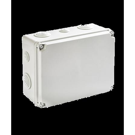 Κουτί διακλάδωσης εξωτερικό 241x180x95mm στεγανό IP54 με τάπες και πλαστικές βίδες