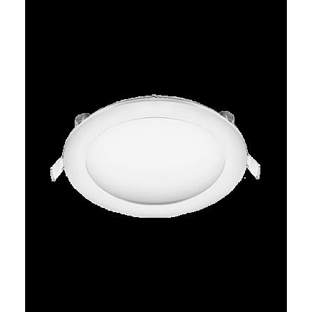 Χωνευτό Φωτιστικό LED στρογγυλό 12W 3000K (ΘΕΡΜΟ) Φ170mm (Φ155κοπή)