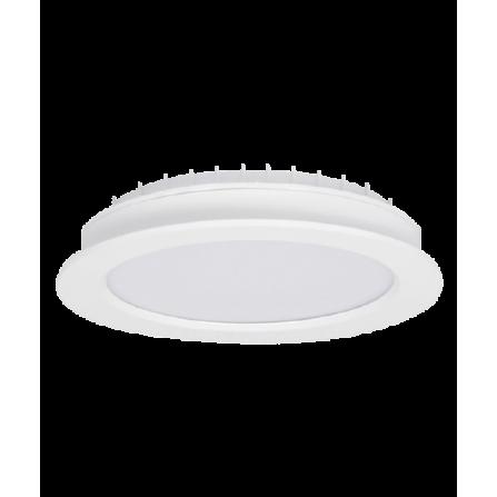 Χωνευτό Φωτιστικό LED στρογγυλό 24W 3000K (ΘΕΡΜΟ) 1920Lm Φ225mm (Φ210κοπή)
