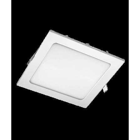 Χωνευτό Φωτιστικό LED τετράγωνο 20W 3000K (ΘΕΡΜΟ) 1460Lm 225x225x20mm (210x210mm κοπή)