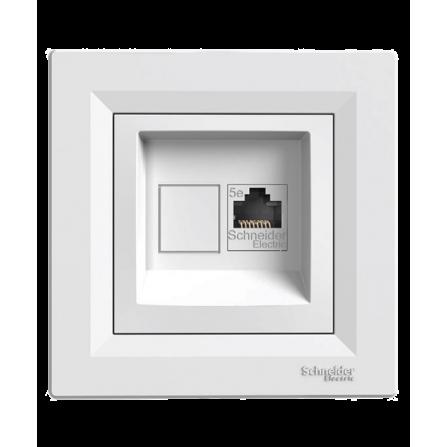 Πρίζα Δικτύου Μονή U/UTP 1XRJ45 8(4) CAT5e Λευκή ASFORA SCHNEIDER
