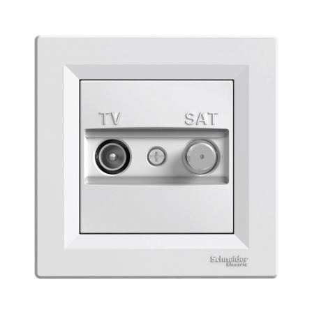 Πρίζα TV-SAT Διελεύσεως Λευκή ASFORA SCHNEIDER