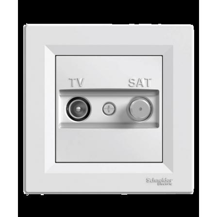 Πρίζα TV-SAT Τερματική Λευκή ASFORA SCHNEIDER