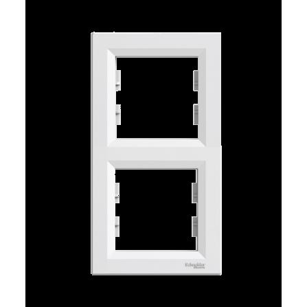 Διπλό πλαίσιο κάθετο λευκό SCHNEIDER ASFORA