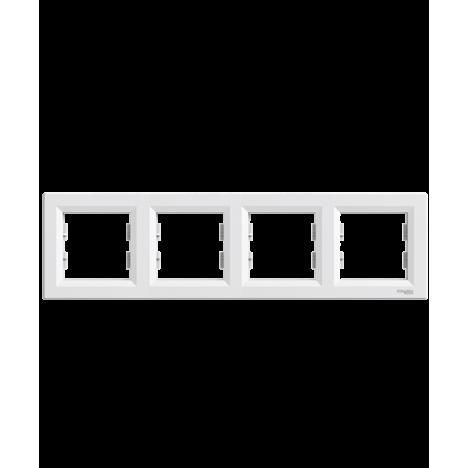 Τετραπλό πλαίσιο οριζόντιο λευκό SCHNEIDER ASFORA