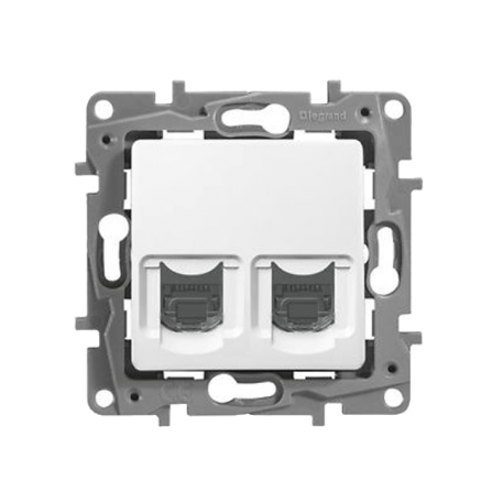 Μηχανισμός πλακίδιο πρίζας τηλεφώνου RJ11 Λευκός LEGRAND NILOE