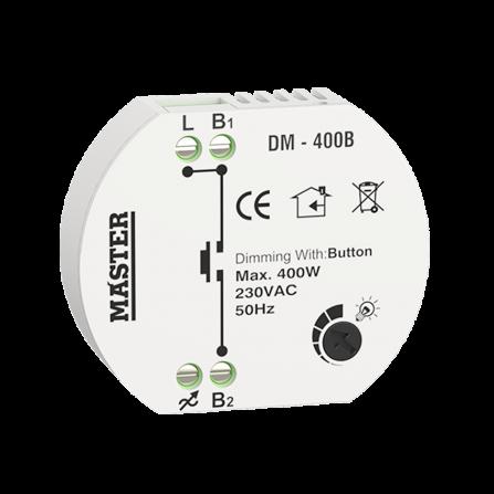 Dimmer κυτίου 400W για λαμπτήρες LED (ΤΗΛΕΧΕΙΡΙΣΜΟΣ BUTTON)