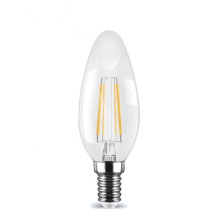 Λάμπα κεράκι LED Filament E14 4W 3000K (ΘΕΡΜΟ) C35 360o 470Lm