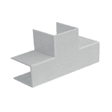 Σύνδεσμος Τ για κανάλι 80x40mm σε λευκό χρώμα