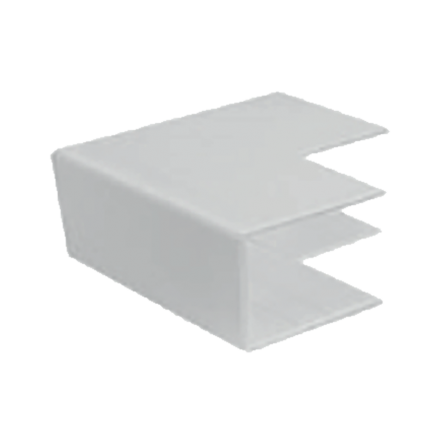 Εξωτερική γωνία για κανάλι 25x25mm σε λευκό χρώμα
