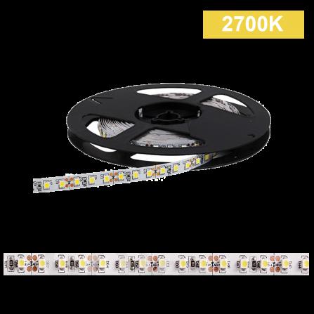 Ταινία LED 9.6W/m CHIP 3528 120chips/m 2700K (ΘΕΡΜΟ) 480Lm IP20 12V