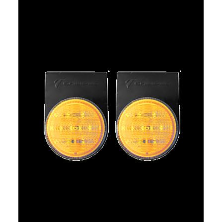 Φωτιστικό LED Μονό Στεγανό κίτρινο IP66 12V/24V για φορτηγά & οχήματα
