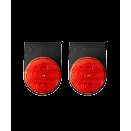 Φωτιστικό LED Μονό Στεγανό κόκκινο IP66 12V/24V για φορτηγά & οχήματα