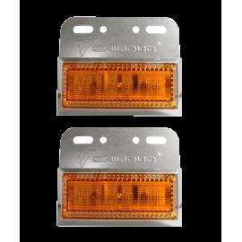 Φωτιστικό LED Μονό Στεγανό πορτοκαλί IP67 24V για φορτηγά & οχήματα