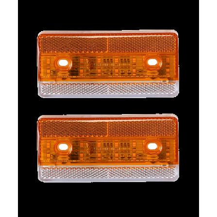 Φωτιστικό LED Μονό Στεγανό πορτοκαλί IP67 24V για φορτηγά & οχήματα 125x59mm