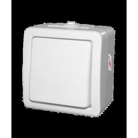 Διακόπτης Απλός Εξωτερικός Στεγανός 10A Λευκός IP44