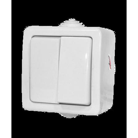 Διακόπτης Κομιτατέρ Κ/Ρ Εξωτερικός Στεγανός 10A Λευκός IP44