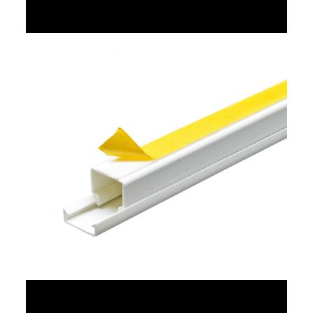 Κανάλι PVC με αυτοκόλλητο 16x16x2000mm