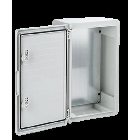 Πλαστικό κιβώτιο ABS 50x70x25 στεγανό με πλάκα στήριξης και πόρτα