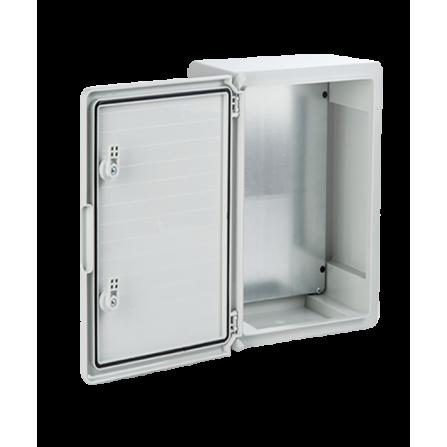Πλαστικό κιβώτιο ABS 60x40x20 στεγανό με πλάκα στήριξης και πόρτα