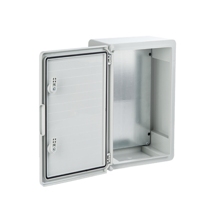 Πλαστικό κιβώτιο ABS 40x50x17 στεγανό με πλάκα στήριξης και πόρτα