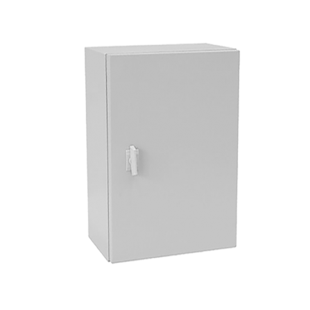 Μεταλλικό κιβώτιο πίνακας 60x40x20 στεγανό με πλάκα στήριξης και πόρτα