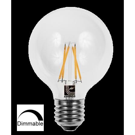 Λάμπα LED Γλόμπος Filament DIMMABLE E27 8W 2800K (ΘΕΡΜΟ) G95 360o 1150Lm