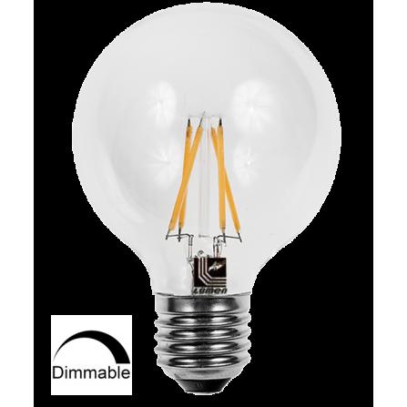Λάμπα LED Γλόμπος Filament DIMMABLE E27 10W 2800K (ΘΕΡΜΟ) G125 360o 1600Lm