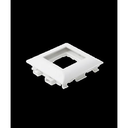 Μονό πλαίσιο για κανάλι modular σε λευκό χρώμα