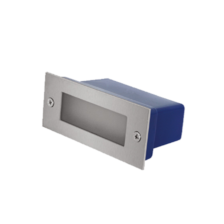 Χωνευτό Φωτιστικό Απλίκα LED για τοίχο ή σκάλα 3W 4000K (ΦΩΣ ΗΜΕΡΑΣ) 240Lm IP65 σε INOX