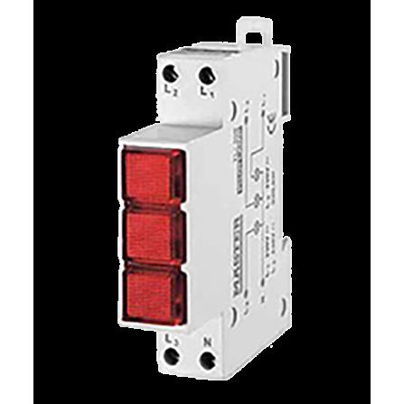 Ενδεικτική λυχνία 3 ΦΑΣΕΙΣ Kόκκινη LED MASTER