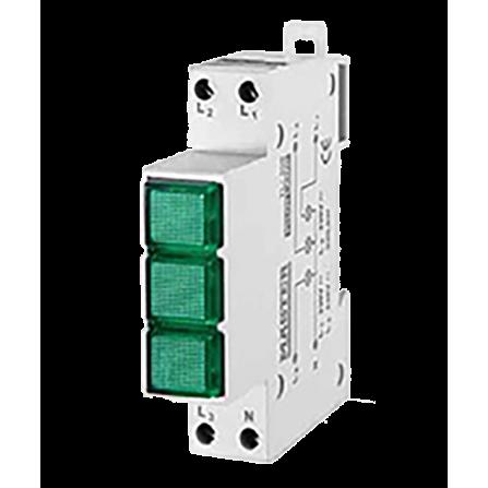 Ενδεικτική λυχνία Τριφασική Πράσινη LED MASTER