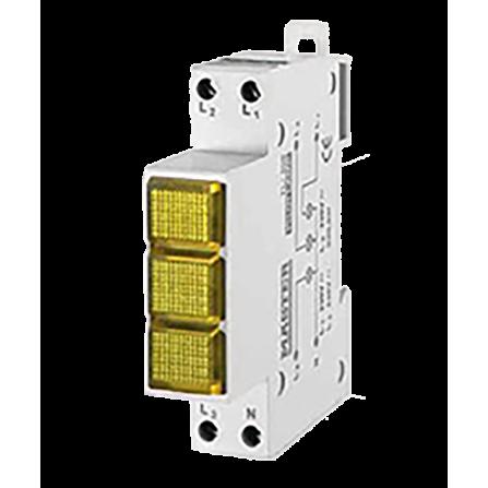 Ενδεικτική λυχνία Τριφασική Κίτρινη LED MASTER