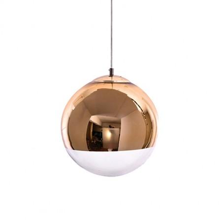 Κρεμαστό Φωτιστικό Μπάλα Φ30 σε χρυσό με γυαλί