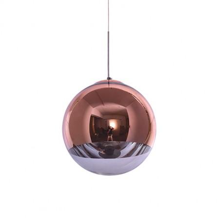 Κρεμαστό Φωτιστικό Μπάλα Φ30 σε χαλκό με γυαλί