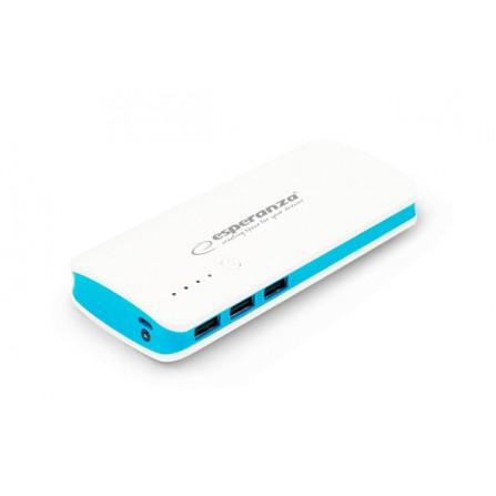 Power Bank Esperanza Radium 8000mAh λευκό με μπλε