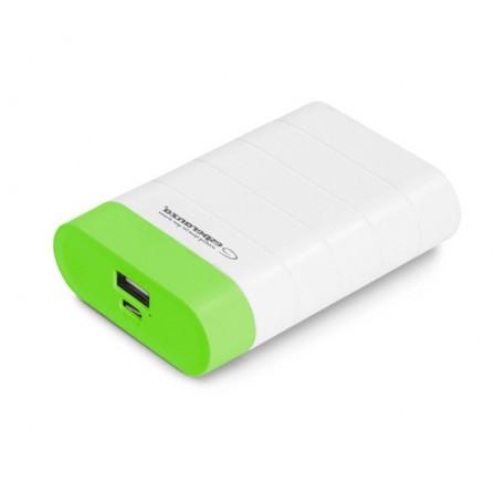 Power Bank Esperanza Graviton 4800mAh λευκό με πράσινο