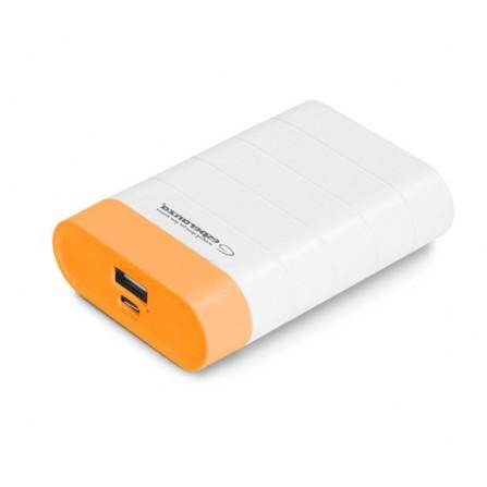 Power Bank Esperanza Graviton 4800mAh λευκό με πορτοκαλί