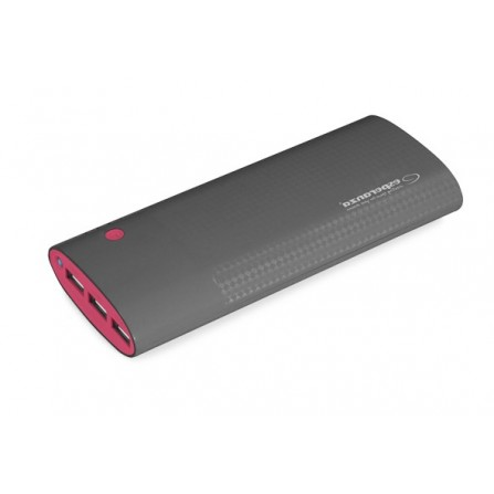 Power Bank Esperanza Uranium 13800mAh μαύρο με βυσσινί