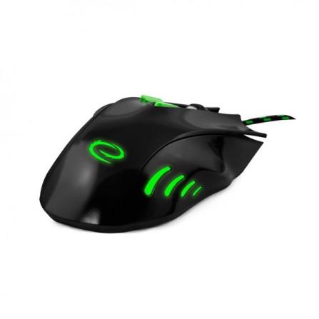 Ενσύρματο GAMING Φωτιζόμενο Ποντίκι ESPERANZA HAWK MX401 7D μαύρο με πράσινο