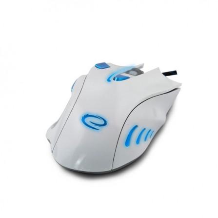 Ενσύρματο GAMING Φωτιζόμενο Ποντίκι ESPERANZA HAWK MX401 7D λευκό με μπλε