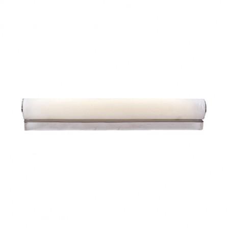 ΦΩΤΙΣΤΙΚΟ ΤΟΙΧΟΥ ΑΠΛΙΚΑ ΓΙΑ ΜΠΑΝΙΟ LED 12W στεγανό, 3000Κ, γυαλί με χρώμιο
