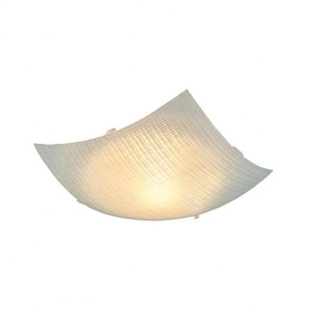 Πλαφονιέρα/φωτιστικό Οροφής μονόφωτο τετράγωνο